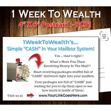 1 Week To Wealth Postcard PC01