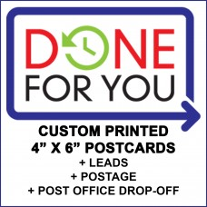 Done For You Direct Mail Service for POSTCARDS