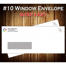 "#10 Peel-n-Seal Security Envelopes w/Window (Custom Printed 4.125"" x 9.5"")"