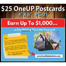 $25 One Up Postcard PC-01