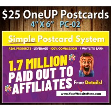 $25 One Up Postcard PC-02
