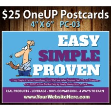 $25 One Up Postcard PC-03