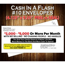 "CASH IN A FLASH Envelope (#10 - 4.125"" x 9.5"")"