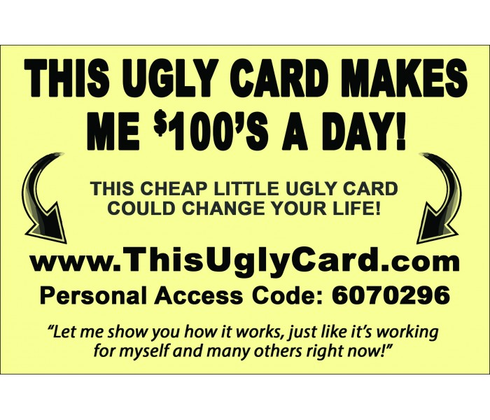 """""""This Ugly Card"""" Postcard PC01"""