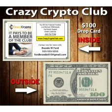 Crazy Crypto Club $100 Drop Cards