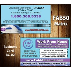 FAB 50 MATRIX Business Card BC-02