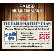 FAB 50 Business Card BC-01