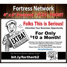 Fortress Network Postcard PC01