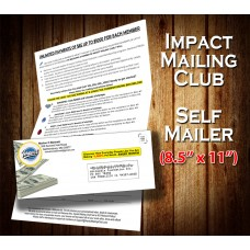 Done For You Direct Mail Service for Impact Mailing Club - SELF MAILER