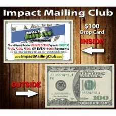 Impact Mailing Club $100 Drop Cards
