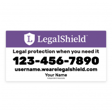 "Legal Shield Car Magnets 12"" x 24"" (set of 2) MAG01"