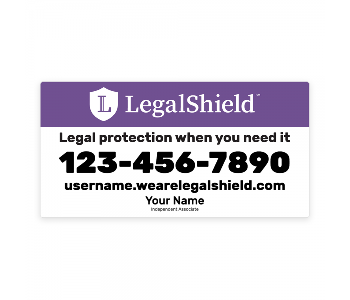 """Legal Shield Car Magnets 12"""" x 24"""" (set of 2) MAG01"""