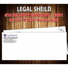 "Legal Shield Envelope (#10 - 4.125"" x 9.5"")"