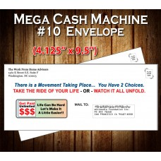 "Mega Cash Machine Envelope (#10 - 4.125"" x 9.5"")"