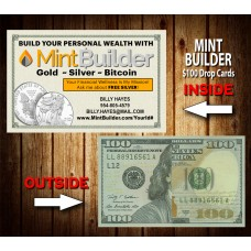 Mint Builder $100 Drop Cards