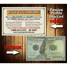 Passive Profits $100 Drop Cards