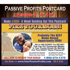 Passive Profits Postcards (Version-2)