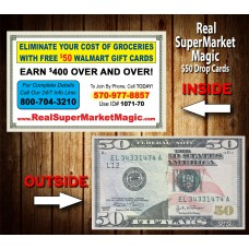 Real SuperMarket Magic $50 Drop Cards