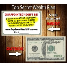 Top Secret Wealth Plan $100 Drop Card